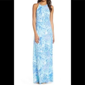 Lilly Pulitzer Margot Blue Haven Maxi Dress, NWT